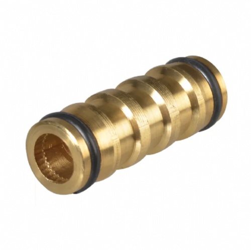 "Faithfull Brass 2 Way Hose Coupling Connector 12.5mm (1/2"")"
